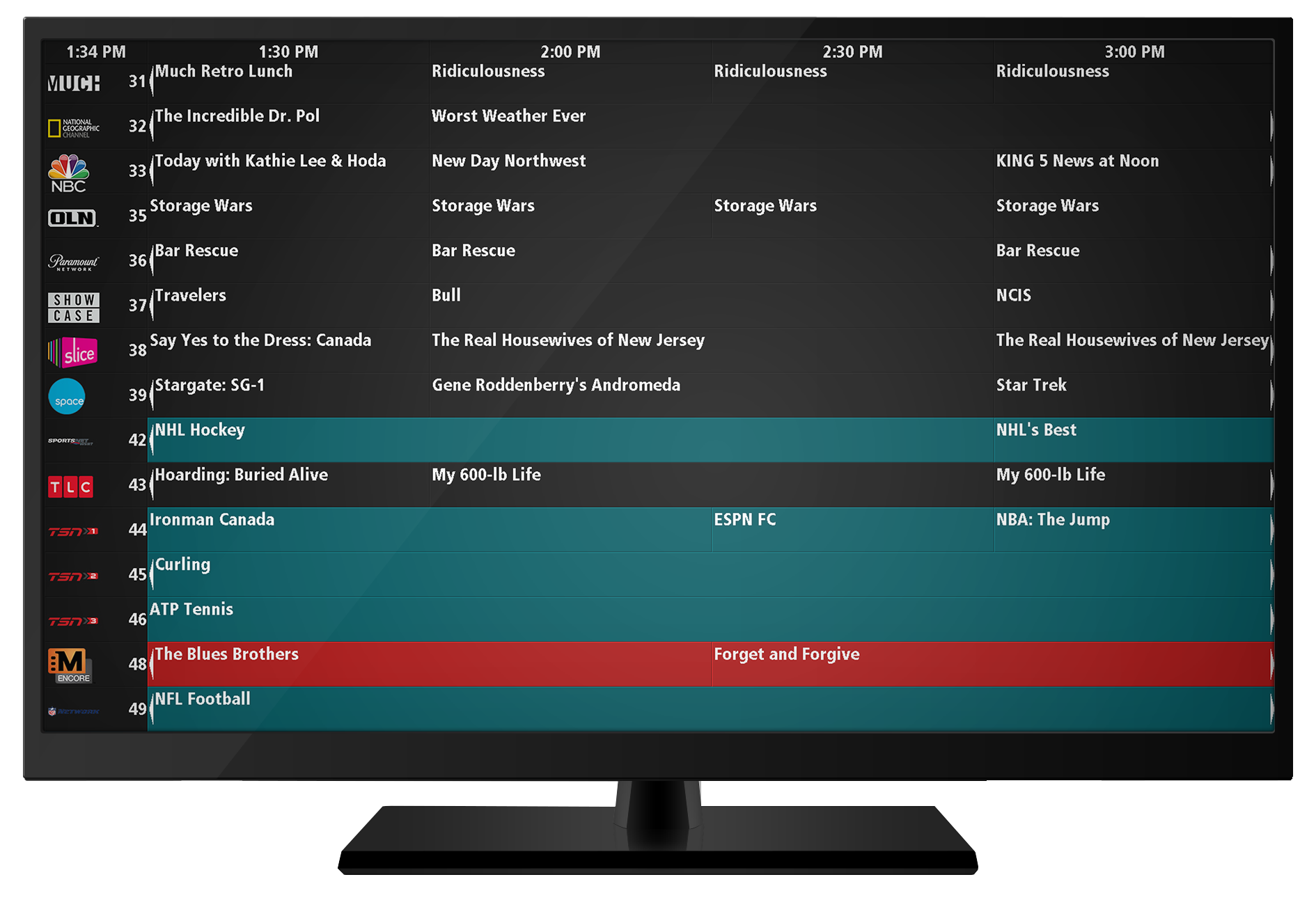 LineUp: A Scrolling TV Listings Guide – Display Systems International